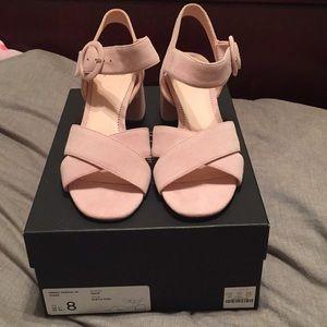 JCrew suede Penny cross strap sandals